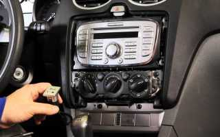 Магнитола Форд Фокус 2 6000cd как подключить флешку (видео)
